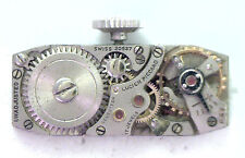 Antique Lucien Piccard 17j Swiss Watch Movement Not Working For Parts  #P327