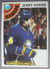 1978-79 Topps #231 Jerry Korab Buffalo Sabres