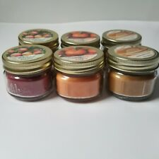 6 Soy Wax Mason Jar Candles W/ Lid 2 Ea Maple Syrup, Pumpkin Apple Scented 3 oz