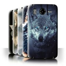 STUFF4 Back Case/Cover/Skin for HTC Desire HD/G10/Wild Animal Predator Wolf