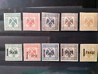 Albania stamps lot, Vetekeverria e Mirdites, 2 series, 10 stamps