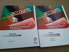Osborne Accounting books AAT Level 4 NVQ Unit 8&9 Managing Performance Resources