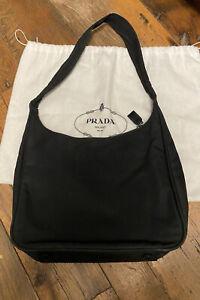 Authentic Black Nylon PRADA Shoulder Bag, Italy