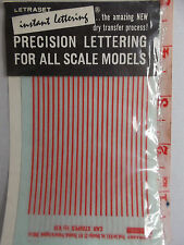 DECAL 1964 SEALED NOS LETRASET V31 1/32 SLOT CAR RED STRIPES DRY APPLY