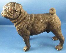 Leonardo Resin Dogs Figures -PUG in A Black Colouration