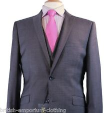 BNWT Holland Esquire 3 PIECE Grey CROSSDYE Suit + H.Esq FREE SUIT CARRIER Uk46