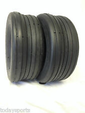 TWO 15X6.00-6 SMOOTH RIB LAWN MOWER TRACTOR HEAVY DUTY Lawnmower Tires TUBELES