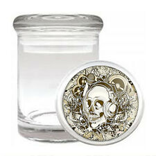 Skull Odorless Air Tight Medical Glass Jar Container Design-004