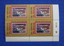 U.S. (Mt10) 1995 Montana State Duck Stamp Plate # block of 4 (Mnh)