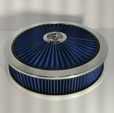 Spectre 14 x 3 Blue Extra Flow Air Cleaner With Dropped Base- Chevy-Ford-Hot Rod
