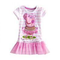 HOT Baby Girls Peppa Pig Tutu Dress Clothes Kid Top T-Shirt Blouse Toddler 2-9Y
