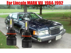 LED For MARK VII 7 1984-1992 Headlight Kit 9004 HB1 6000K White Bulbs Hi-Lo Beam