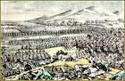 Currier & Ives |  Flight of Mexican Army at The Battle of Buena Art Print