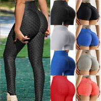 Women Push Up Leggings Yoga Pants Anti Cellulite Jogging Ruched Scrunch Trousers