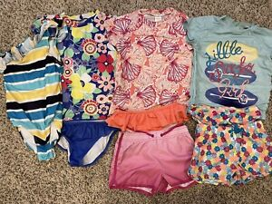 Gymboree Swimwear Lot Of 4 Outfits Girls Size 7-8