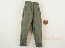 1:6 Action Figure WW2 German Army Soldier Green Pants Trousers Uniform DA204
