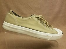 Converse Jack Purcell Unisex Tan Beige Shoes Fashion Sneakers Size M 10.5 W 12