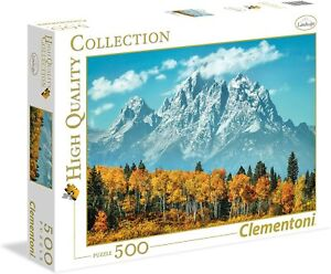 Clementoni 35034 Puzzle High Quality Collection -Grand Teton In Fall -500 Piezas