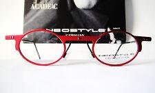 Neostyle 41-24 RARE Red Round Eyeglasses Frames Vintage Mens Nerd Geek Lennon