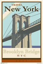 Brooklyn Bridge - Travel New York Poster Print, 24x36
