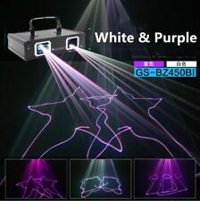 Remote Stage Laser Light DMX Control Purple White Beam Scanner Stage Show DJ Bar