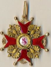 Russian badge Imperial Antique Order St. Stanislav  Gold Original  (1493a)