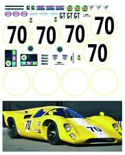 NEW Decal set for 1/12 scale Tamiya Lola T70