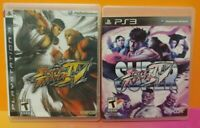 Street Fighter IV 4 + Super Street Fight  Game Lot PS3 Sony Playstation 3 Tested