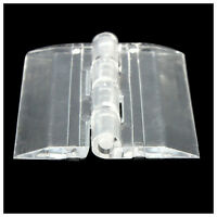 6x Transparent Acrylic Plastic Hinges Box Piano Acrylic Hinge 45×38mm Z3R9