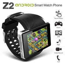 "New Z2 Black 2"" QVGA Android 4.0 Smart Watch 3G GPS 2MP Camera WiFi Cell Phone"