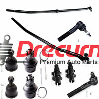 10PC Front Suspension Tie Rods Ball Joints For 2003-2008 Dodge Ram 2500 3500 4x4