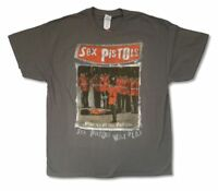 Sex Pistols Pistols at the Palace Grey T Shirt New Official Sid Vicious
