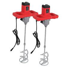 2Pcs Electric Handheld Mixer Mud Paint Concrete Mortar Cement Mixers Convenient