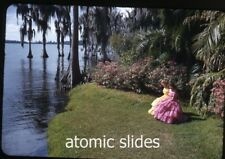 1953  kodachrome Photo slide Ladies Cypress Gardens Florida