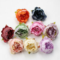 5PCS/Lot 5cm Peony Flower Head Artificial Flowers Silk For Wedding Party HOT
