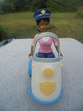 Dollhouse Fisher Price 1990s Lot Village Shops 2  Police Officer Skooter Figure