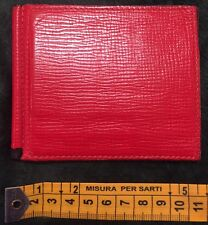 VALEXTRA - portafogli rosso - simple grip spring - a costa - originale