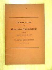 1897 OBITUARY RECORD OF THE GRADUATES OF BOWDOIN COLLEGE & MEDICAL SCHOOL MAINE