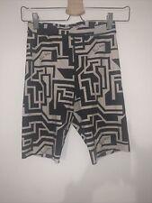 Womans Richard Allen Black & Cream Cycling Shorts Size S