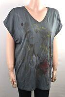 John Richmond B433 donna maglietta camicetta camicia lunga top a manica corta