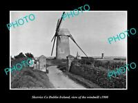 OLD LARGE HISTORIC PHOTO OF SKERRIES DUBLIN IRELAND, THE TOWN WINDMILL c1900