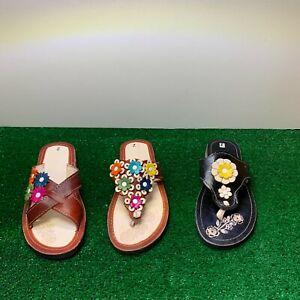 Woman Mexican Artisanal Leather Sandals Sandalias de Piel Artesanal Mujer Floral