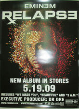 EMINEM Relapse, Interscope 2-sided promotional mini-poster, 2009, 8x11, MINT!