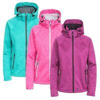 Trespass Angela Women's Windproof Softshell Jacket in Pink Green and Purple