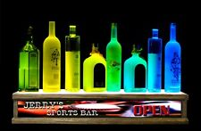 """24"""" Liquor Bottle Display Color Led Personalized Sports Bar Sign"""