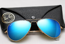 NEW Original RAY-BAN Aviator Large Metal FLASH Red Blue Green Sunglasses RB 3025