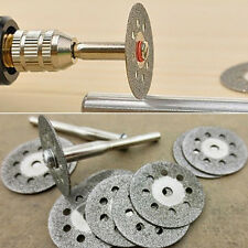 1 Set Circular Saw Blades Rotary Tool Cut Useful Wheel Discs Mandrel Dremel BJ