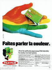 PUBLICITE ADVERTISING 016  1971  FUJI FILM  pellicules Japonaises Fuji 100 ASA
