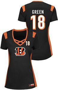 A.J. Green Cincinnati Bengals Women's Black Draft Him Name&Number Jersey T-Shirt