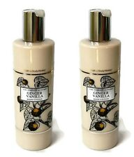 2 Bath and & Body Works THE PERFECT AUTUMN GINGER VANILLA Lotion Slatkin & Co.